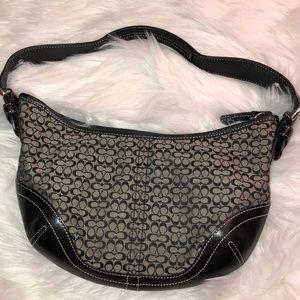 Coach signature C fabric & Leather Shoulder Bag